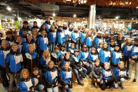 Skisportathleten des Allgäuer Skiverbandes bei der Wintersporteinkleidung im Hause des Sport Reischmann in Kempten
